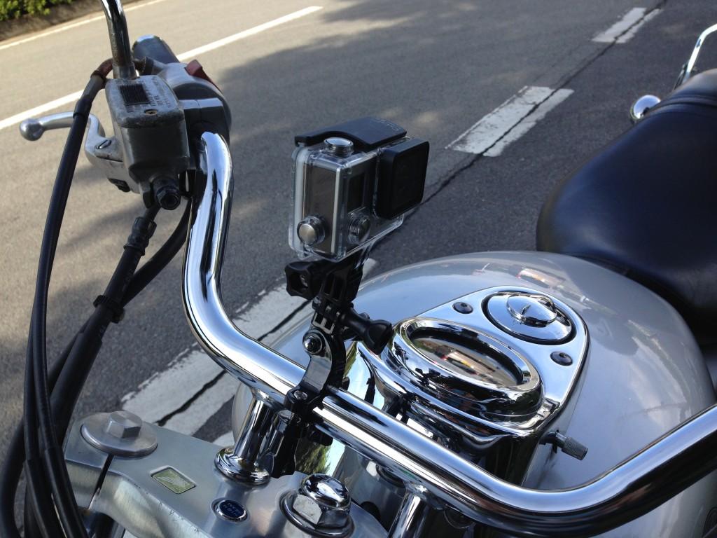 Goproでバイクツーリングアクセサリーの使い方を試していたら一脚壊れた